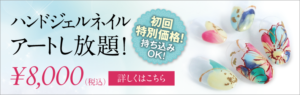 ハンドジェルネイルアートし放題!
