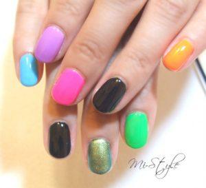 原色カラー8種類!ミラーネイルになるまでのビフォー&アフター