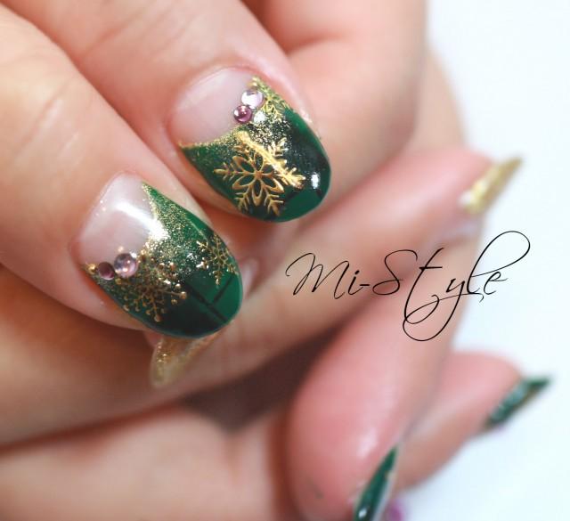 クリスマスカラー♪テーマはグリーン&パープルの意外な組み合わせ♪